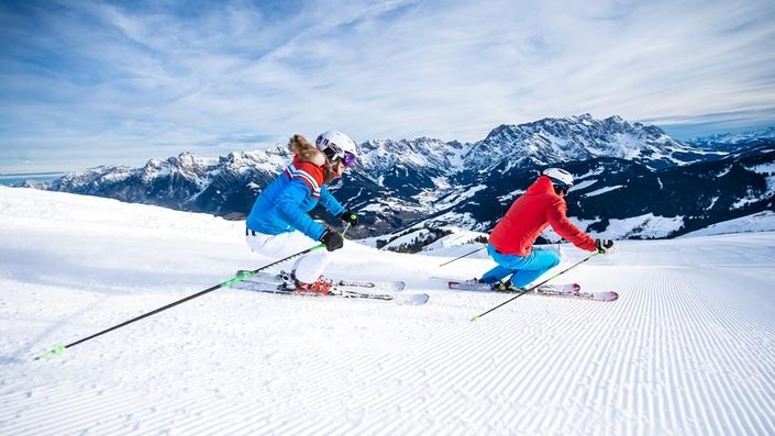 Skifahren am Gipfel der Gefühle